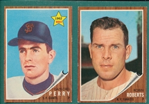 1962 Topps Lot of (47) W/ Gaylord Perry, Rookie