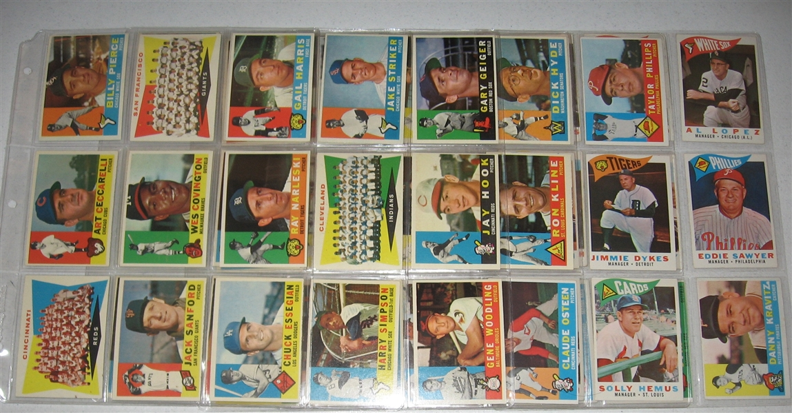 1960 Topps Lot of (230) W/ Yastrzemski, Rookie