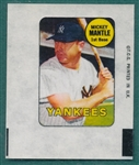 1969 Topps Decal Mickey Mantle