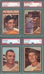 1962 Topps Lot of (8) PSA 7 W/ #469 Aparicio, AS