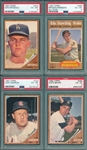 1962 Topps Lot of (4) W/ #340 Drysdale PSA 6