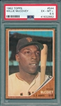 1962 Topps #544 Willie McCovey PSA 6.5 *High #*