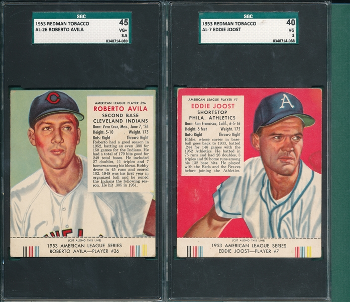 1953 Red Man Tobacco Lot of (4) W/ Tabs, SGC