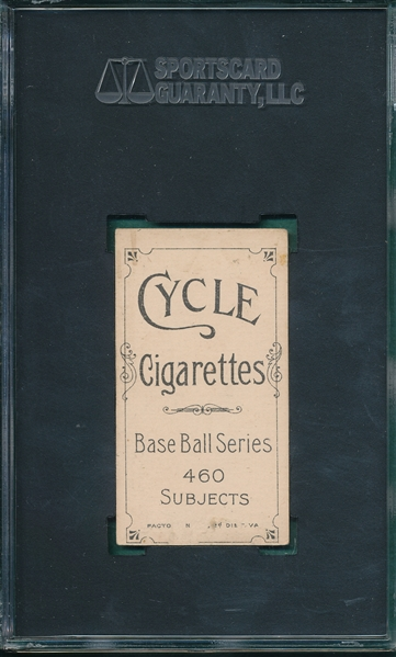 1909-1911 T206 Ames, Hands Above Head, Cycle Cigarettes, SGC 30 *460 Series*