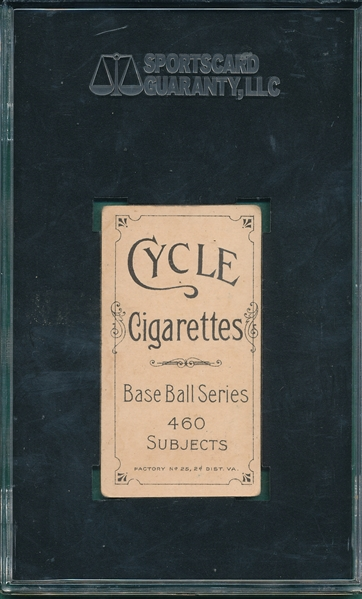 1909-1911 T206 Doolan, Batting, Cycle Cigarettes, SGC 50 *460 Series*