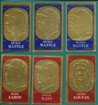 1965 Topps Embossed Lot of (10) W/ (3) Mantles