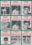 1961 Nu-Card Baseball Scoops Lot of (44) W/ Babe Ruth