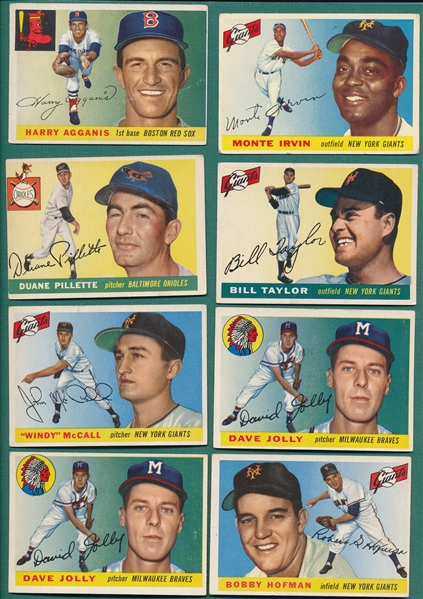 1955 Topps Lot of (66) W/ Agganis