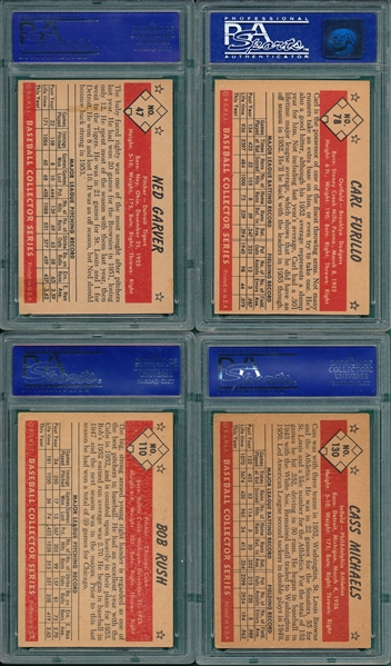 1953 Bowman Color Lot of (4) W/ #78 Furillo PSA