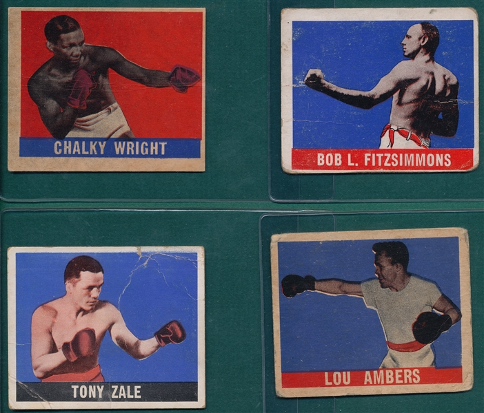 1948 Leaf Boxing Lot of (38) W/ Abe Attell