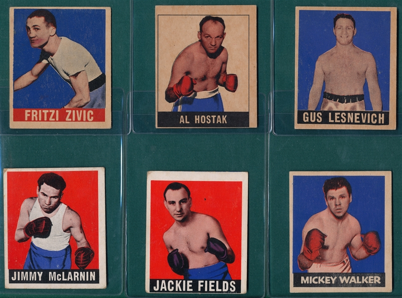 1948 Leaf Boxing Lot of (13) W/ James Jefferies