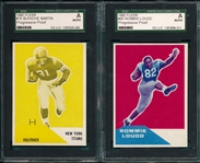 1960 Fleer #78 Martin & #90 Loudd, Lot of (2) Progressive Proofs, SGC Authentic