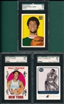 1996-2002 Basketball Frazier, Chamberlin & Jabbar, Lot of (3) SGC 98