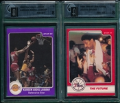 1983-85 Star Co. BSKT Lot of (6) W/ Erving & Jabbar, GAI