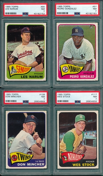 1965 Topps Lot of (12) W/ #12 NL Strikeout Leaders PSA 9 (OC)