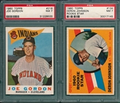 1960 Topps Lot of (5) W/ #216 Joe Gordon PSA 7