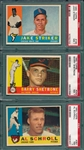 1960 Topps Lot of (7) W/ #169 Striker PSA 7