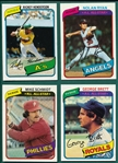 1980 Topps Baseball Complete Set (726) W/ Rickey Henderson, Rookie