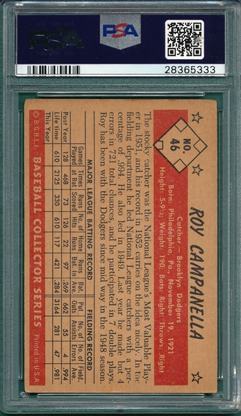 1953 Bowman Color #46 Roy Campanella PSA 3.5