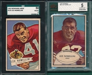 1952/53 Bowman FB Leo Nomellini, Lot of (2), SGC/BVG