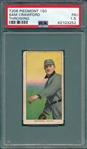 1909-1911 T206 Crawford, Throwing, Piedmont Cigarettes PSA 1.5