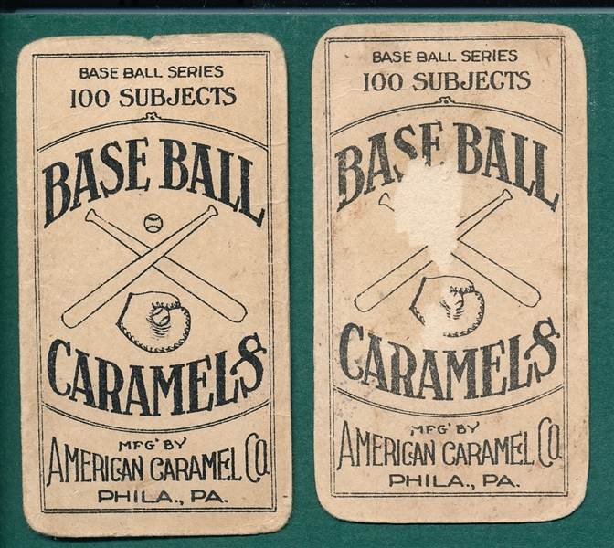 1909-11 E90-1 Bush & Summers, Lot of (2), American Caramel Co.