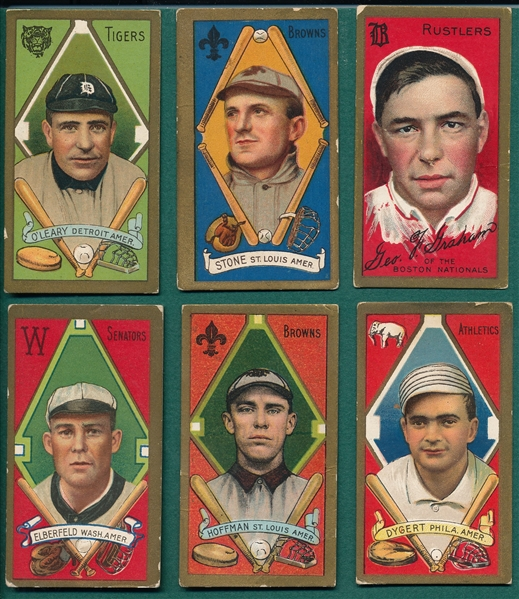 1911 T205 Lot of (6) W/ Graham, Rustlers
