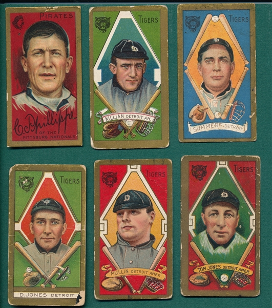 1911 T205 Lot of (6) W/ Phillippe