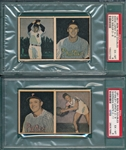 1951 Berk Ross Panel, 2-9/2-11 & 3-6/3-8, Lot of (2) PSA 6