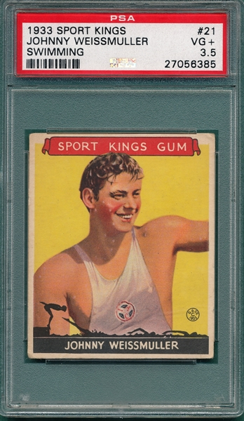 1933 Sport Kings #21 Johnny Weissmuller PSA 3.5