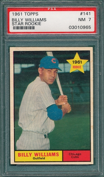 1961 Topps #141 Billy Williams PSA 7 *Rookie*