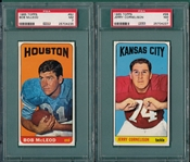 1965 Topps FB #82 McLeod & #98 Cornelison, Lot of (2), PSA 7