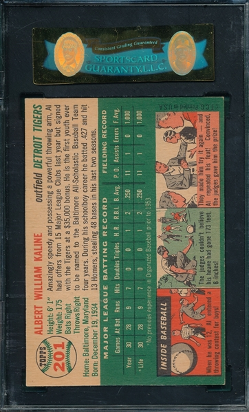 Lot Detail 1954 Topps 201 Al Kaline Sgc 80 Rookie