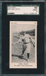 1922 W501 #29 Carl Mays SGC 88 *Only 3 Graded* *Highest Graded*