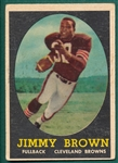 1958 Topps FB #62 Jim Brown *Rookie*