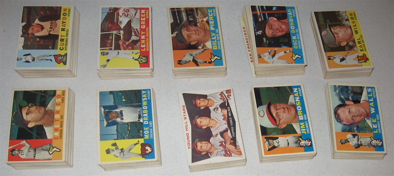1960 Topps Baseball Partial Set  (481/572)
