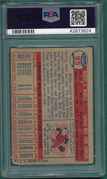 1957 Topps #95 Mickey Mantle PSA 1.5