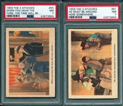 1959 The 3 Stooges #55 & #81, Lot of (2), PSA 7