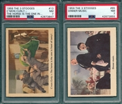 1959 The 3 Stooges #13 & #65, Lot of (2), PSA 7