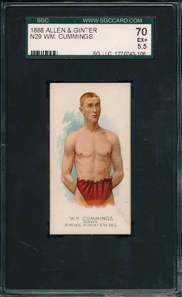 1888 N29 Wm Cummings Allen & Ginter Cigarettes SGC 70