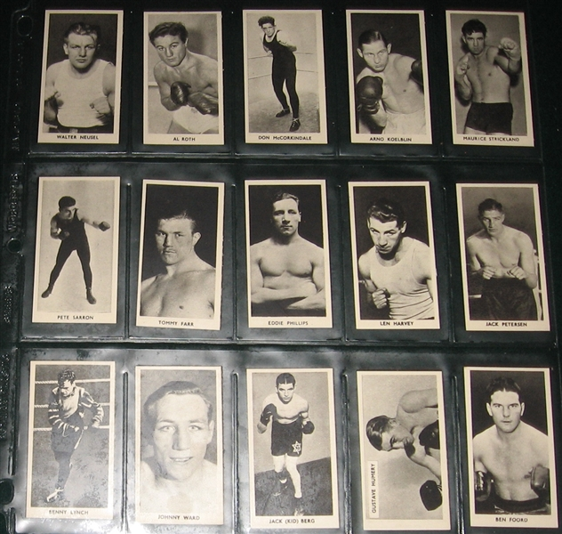 1938 F. C. Cartledge Famous Prize Fighters Complete Set (50)