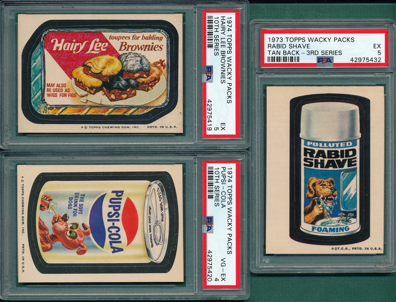 1973-75 Topps Wacky Packages Stickers & Puzzles, Lot of (9)