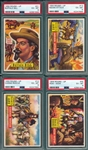 1956 Topps Round-Up Lot of (4) W/ #21 Buffalo Bill PSA 6