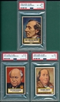 1953 Topps Look N See Lot of (3) W/ #21 Ben Franklin PSA