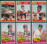 1965 Topps Lot of (118) W/ (2) Mantle Leaders