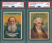 1910 F130 Tolstoi & Watt, Gidley Butter, Lot of (2), PSA 2