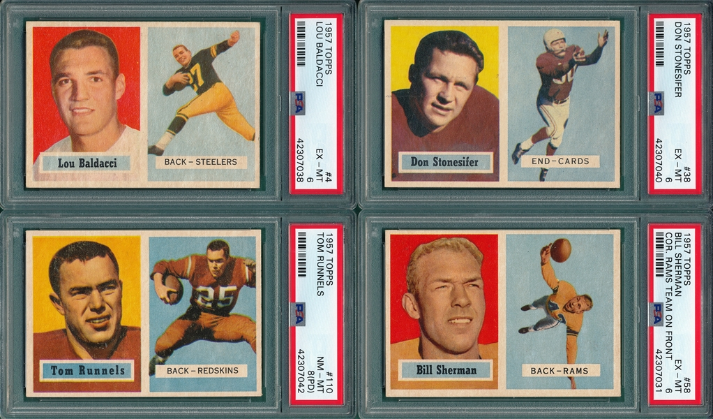 1957 Topps FB Lot of (30) W/ McDonald, Rookie, PSA