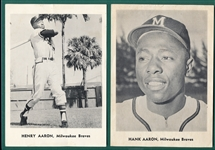 1960s Jay Publishing Braves Lot of (14) W/ Aaron (2)