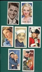 1920s-30s Lot of (8) Non Sports Actor & Actresses, Complete Sets