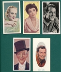 1920s-50s Lot of (5) Non Sports Actor & Actresses, Complete Sets